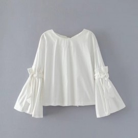Flare Top with Ribbon Detail