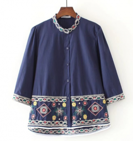 LM+ Intricate Embroidery Shirt