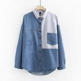 LM+ Denim Combination Shirt