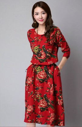 Floral Dress (4 Colors)