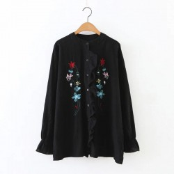 Floral Embroidered Shirt (2 Color)