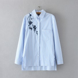 LM+ Floral Embroidery Shirt (2 Color)