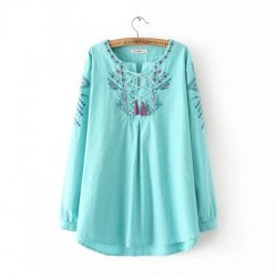 LM+Embroidery Blouse (2 Color)