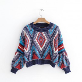 Crop Motif Sweater