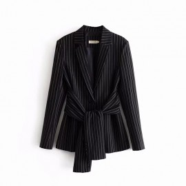 Pinstripe Blazer with Sash