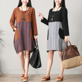 MIRA Motif Tunic (Brown)