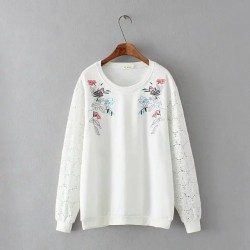 LM+  Floral Pullover