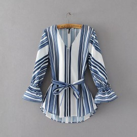 Stripe Tunic with Sash