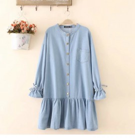 LM+ Denim Babydoll Tunic