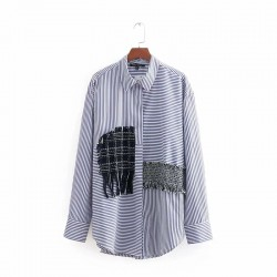 Shirt with Patchwork Detail
