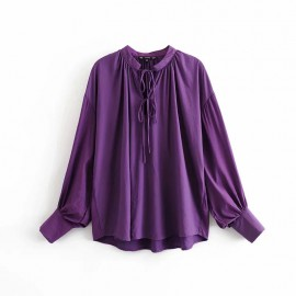 Slouchy Blouse with Drawstring