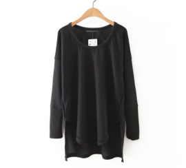 Long Knit Pullover (2 Color)