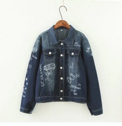 LM+ Graffiti Denim Jacket