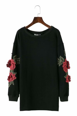 Floral Patch Pullover