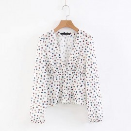 Polka Dot V-Neck Top