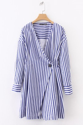 Stripe Wrap Cardigan