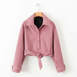 Gingham Crop Jacket