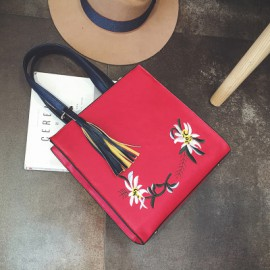 Floral Embroidery Bag