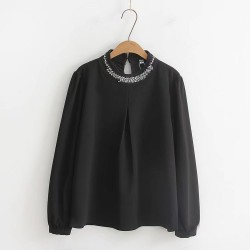 LM+ Sequin Collar Blouse