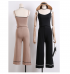 Knit Top and Pants Set (Black)