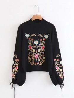 Embroidered Motif Pullover