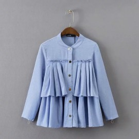 Tiered Button Cape