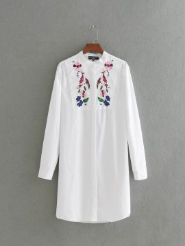 Long Embroidered Shirt