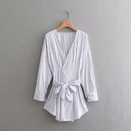 Stripe Tunic Blouse