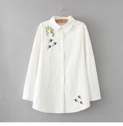 LM+ Embroidered Motif Shirt