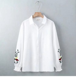 LM+ Floral Sleeve Shirt