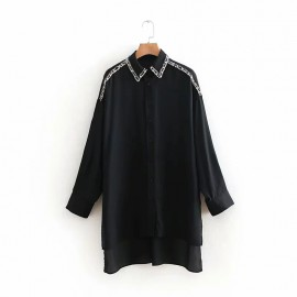 Long Shirt with Applique