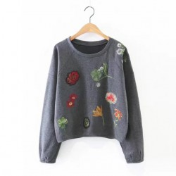 Floral Embroidered Pullover