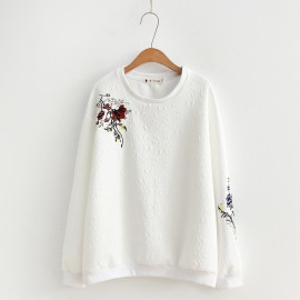 LM+ Floral Embroidered Sweater