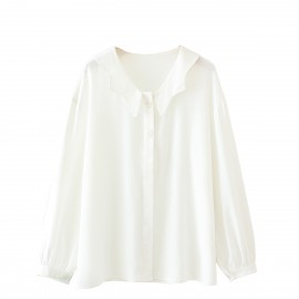 LM+ Shell Button Blouse