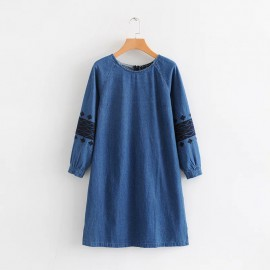Denim Motif Tunic