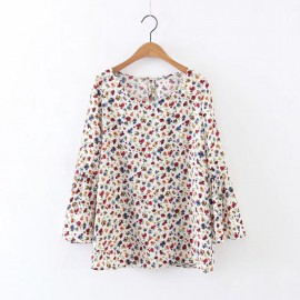 Flower Motif Blouse