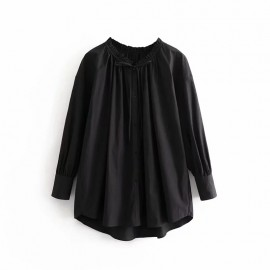 Round-Neck Blouse