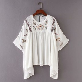 Embroidered Motif Blouse