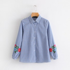 Floral Checkered Shirt