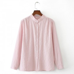 LM+ Mao Collar Blouse