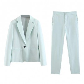 Pastel Blazer and Pants Set
