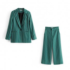 Stripe Blazer and Pants Set