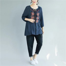 MIRA Embroidery Blouse