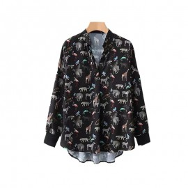 Animal Motif Blouse