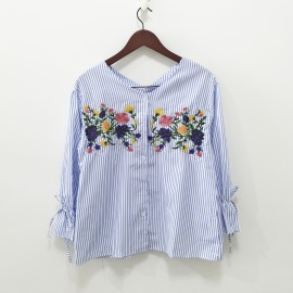Floral Stripe Shirt