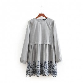 Embroidery Hem Dress