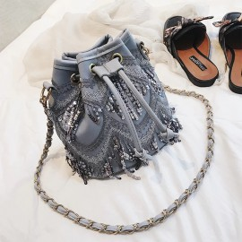 Sequin Sling Tote