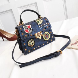 Studded Bag with Badge