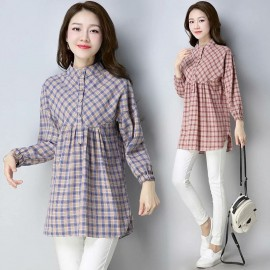 MIRA Checkered Blouse (Red)