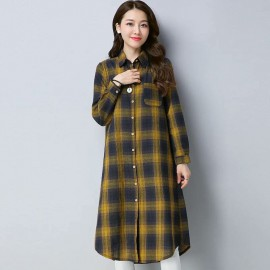 MIRA Checkered Shirt (Yellow)